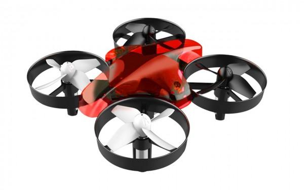Drohne ALLNET- Mini Drohne/Quadcopter mit Fernbedienung ohne Kamera (Farbe rot)
