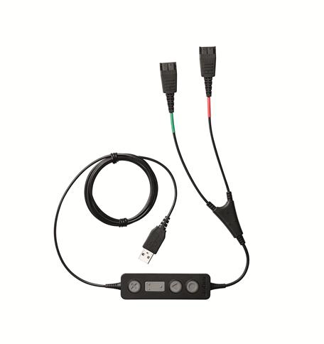 Jabra Kabel Link 265 Supervisor, USB auf 2x QD Stecker