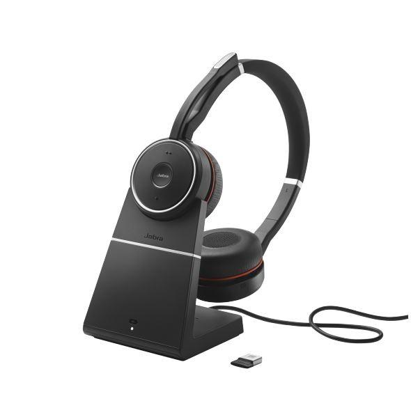 Jabra Evolve 75 Headset Duo USB / Bluetooth MS mit Ladestation
