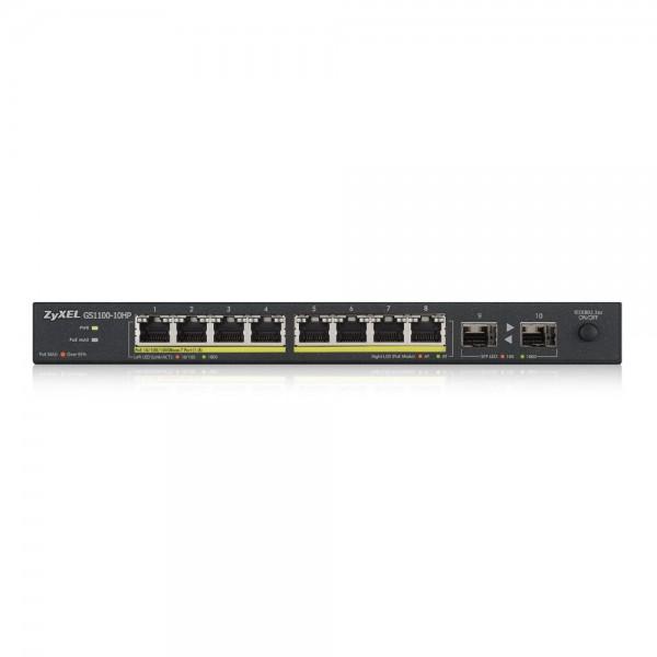 ZyXEL Switch unmanaged PoE 10Ports, 8xRJ, GS1100-10HP