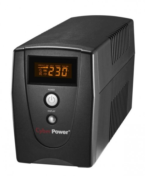 CyberPower USV, Value-Serie, 1000VA/540W, Line-Interactive, USB/RS232, LCD, 4min,