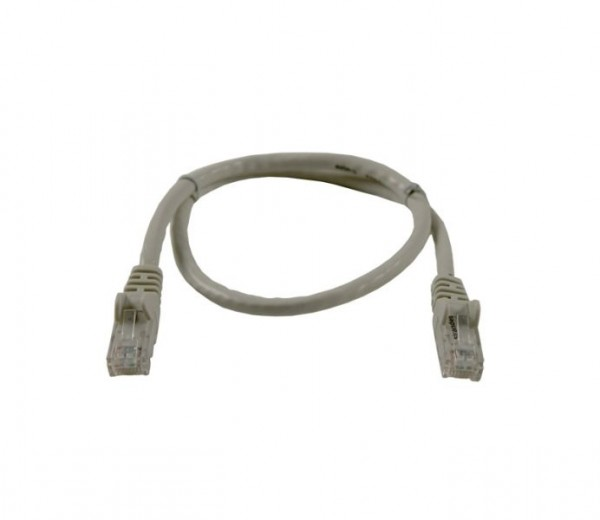 Patchkabel RJ45 UTP(U/UTP). 5m grau, CAT6, PVC, Synergy 21,