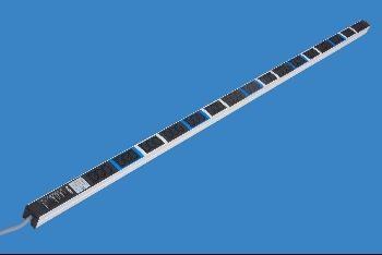 Knürr Steckdosenleiste, 24xKaltgeräte(C13)->ohne Stecker, Bl