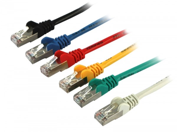 Patchkabel RJ45, 3m gelb, CAT5e, S-FTP(SF/UTP), Synergy 21,