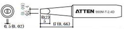 ATTEN T900-2.4D / Ersatzlötspitze 2,4mm