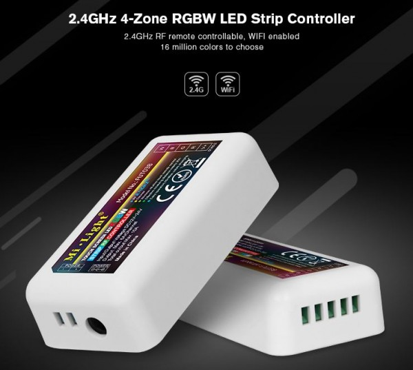 Synergy 21 LED Flex Strip RGB-W DC12/24V Controller 4 Zonen *MiLight*