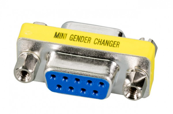 Adapter Gender Changer, D-Sub 9pol.Buchse/D-Sub 9pol.Buchse