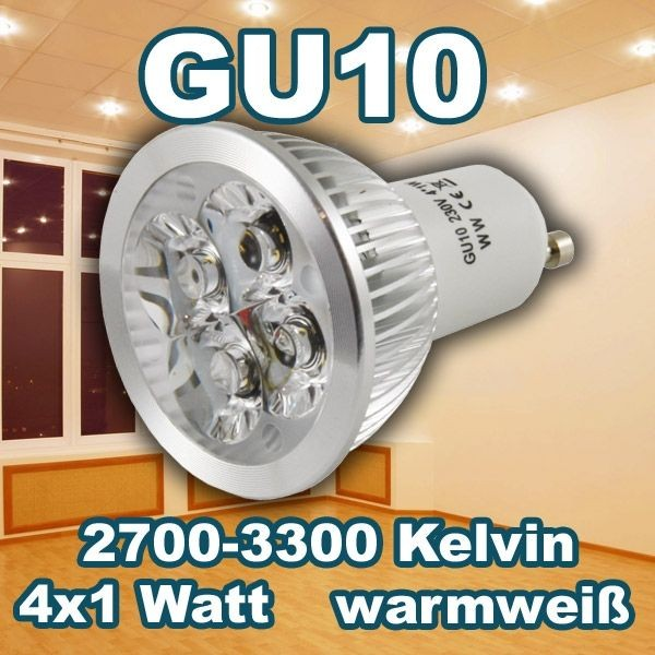 Synergy 21 LED Retrofit GU10 4x1W ww