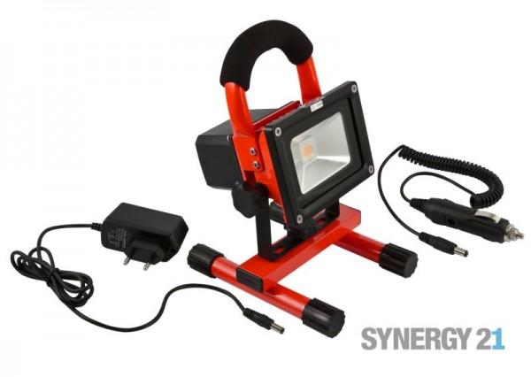 Synergy 21 LED Spot Outdoor Baustrahler 10W AKKU rot/cw