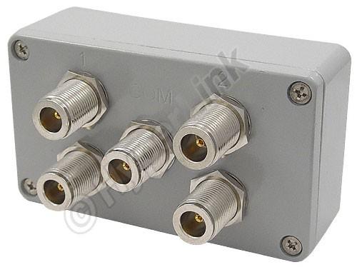 65007 - ALLNET Antennen-Splitter 2,4 GHz 4-Wege Signal Combiner ...