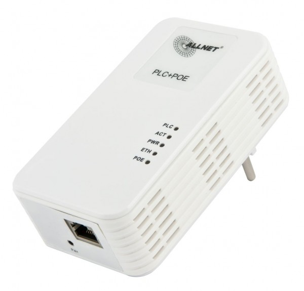 """ALLNET Schweiz Powerline 600Mbit Bridge RJ45 ALL168603 HomePlugV2 """"SmartLink"""" mit IEEE802.3at PoE"""