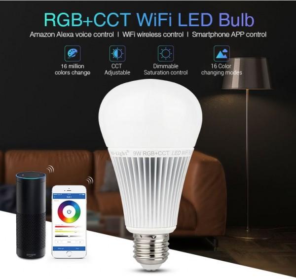 Synergy 21 LED Retrofit E27 9W RGB-WW Lampe mit WLAN *Milight/Miboxer* Alexa Serie