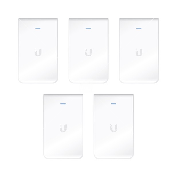 Ubiquiti Unifi Access Point InWall / Indoor / 2,4 & 5 GHz / AC / UAP-AC-IW-5 / 5er Pack