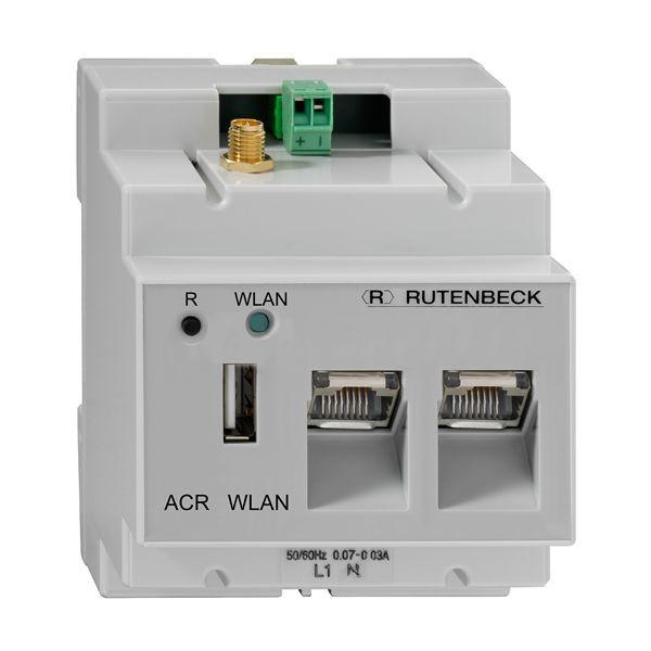 Rutenbeck Accesspoint 150Mbit, DIN, CAT5e, 2xRJ45, 1xUSB, lichtgrau, ACR WLAN 3xUAE/USB, REG-Accesspoint 2,4GHz 150M,