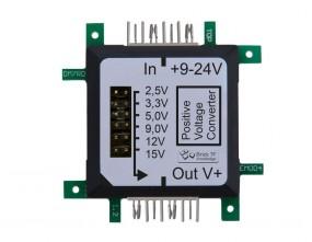 ALLNET Brick'R'knowledge Spannungsregler PWR 7...24V DC to +2,5/+3,3/+5/+9/+12/+15V, 5A/1A