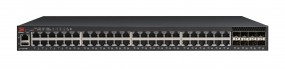 Brocade ICX 7250 Switch 48-port 1 GbE switch PoE+ 740W bundle with 2x1GbE/10GbE + 6x1GbE SFP+ (upgradeable to 10GbE)