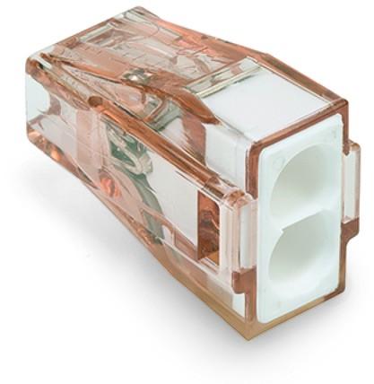 Wago Serie 773-602 - 2-Leiter-Klemme (100 Stück) braun-transparent, Deckel weiß