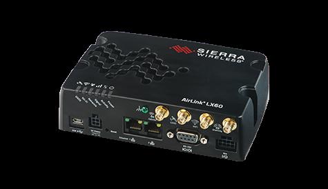 Sierra Wireless LX60 LTE, LTE-M und NB-IoT Router. 2x Gigabit LAN Port - RS232 und RS485 M2M Anbindung