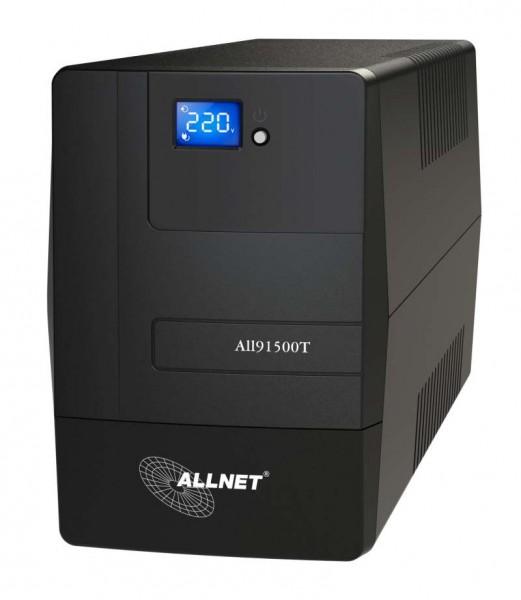ALLNET USV 1500VA Line-Interactive, USB, LCD-Display