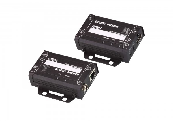 Aten Video/Audio-Extender,70/100mtr., HDMI, Sender/Empfänger-Set, mit POH (4K bei 100 m)