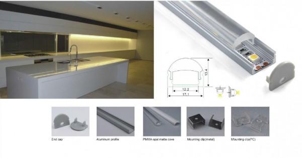 Synergy 21 LED U-Profil 200cm, ALU002-RL in weiss