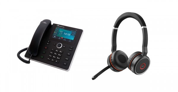 Audiocodes - Jabra Bundle, UC450HDEG & Evolve 75 Headset Duo USB / Bluetooth MS