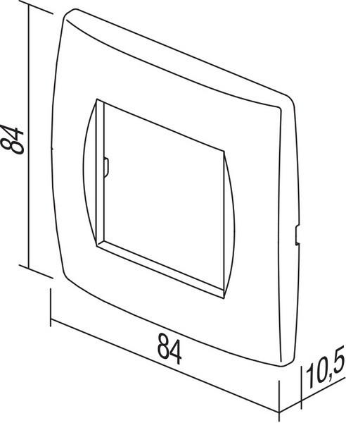 TEM Serie Modul Rahmen OS COVER PLATE SOFT2M IW