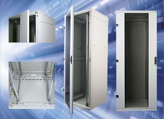 "Triton 19""Schrank 32HE, B800/T1000, Lichtgrau, Zerlegbar"