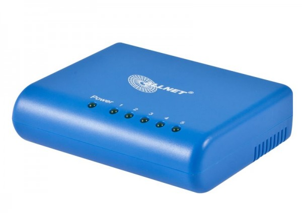 ALLNET ALL8056A / unmanaged 5 Port Fast Ethernet Switch, lüfterlos mit externem