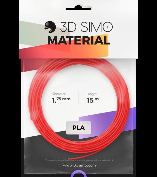 3Dsimo Filament PLA 2 rot, violett & grün