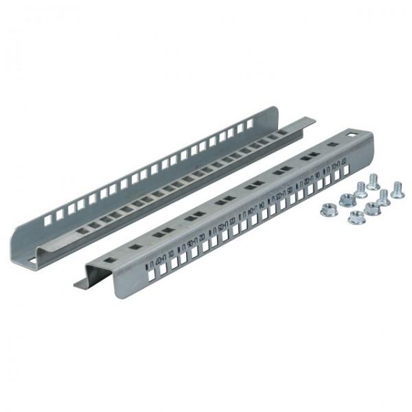 """Wandgehäuse 19"""", IP55, zbh. Montageschienen Senkrecht 7HE, 1Paar, für 6917XXIP55.2-Serie, Lichtgrau,"""