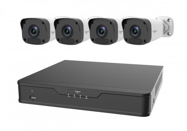 ALLNET ALL-CAM2400-NVR-Kit-B / 5MP NVR Kit-Set 4x Bullet HD mit NVR u. 4x PoE Ports Plug and Play