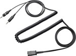 Plantronics Kabel QD auf 2fach 3,5mm Klinkenstecker (Kopfhörer + Mikrofon)