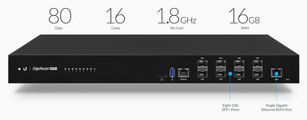 Ubiquiti EdgeRouter Infinity, 8 port 10G SFP+ Router