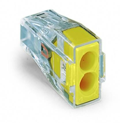 Wago Serie 773-173 - 2-Leiter-Klemme (100 Stück) transparent, Deckel gelb