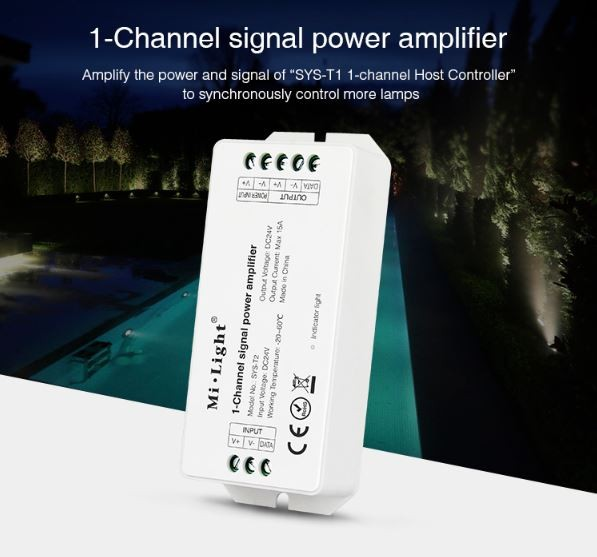 Synergy 21 LED Subordinate Controller 1-Channel Amplifier *Milight/Miboxer*