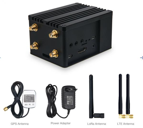 RAK Wireless RAK7243 Pilot Gateway Pro 4G LoRa Gateway RAK831 upgrade, for PoC Raspberry Pi 3B+, RAK2245 Pi HAT, RAK2013 Cellular Pi HAT. RAK7243-13-148