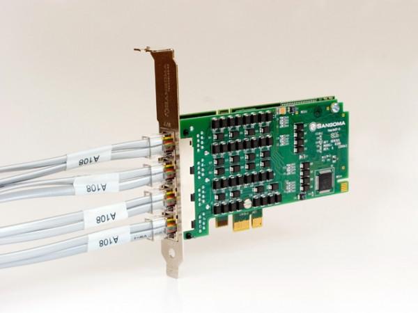 Sangoma 4xPRI/E1 PCIe Karte A104DE mit Echo Unterdrückung