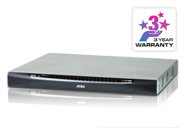 Aten KVM-Switch 40-fach, VGA/PS2/USB/TP, LAN(IP-fähig)