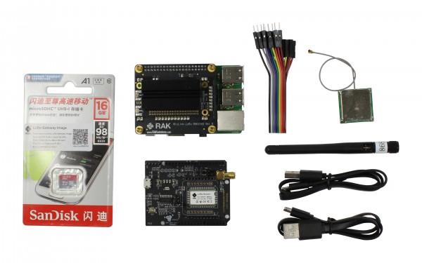 RAK Wireless LoRa Starter Kit RAK2245 Pi HAT & Raspberry Pi 3B+ & WisnodeLoRa & 16G TF Card(with software image) to quick start a LoRaWAN application