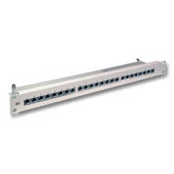 "Patch Panel 24xTP,CAT6A,19"",Lichtgrau,10Gbit,"