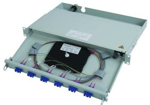 "Telegärtner LWL Patchpanel Spleisbox 19"" 6xSC-Duplex 9/125um"