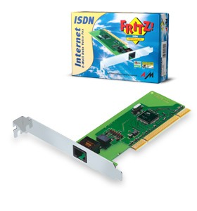AVM FRITZ!CARD *** PCI *** LowProfile inkl. 16/32Bit Softw