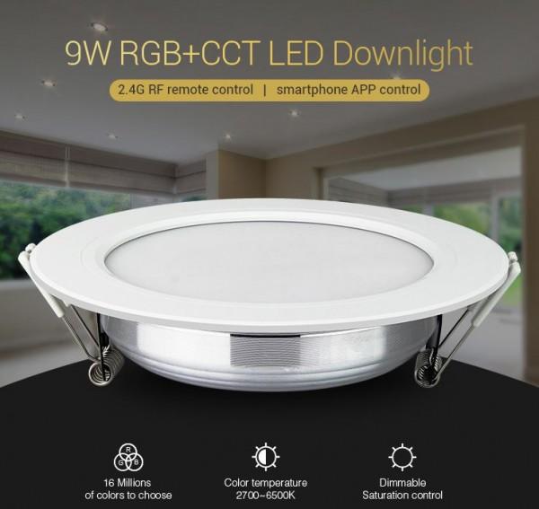 Synergy 21 LED Panel Rund 9W RGB-WW mit Funk und WLAN *Milight/Miboxer*