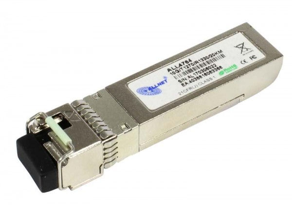 ALLNET Switch Modul ALL4764 SFP+(Mini-GBIC), 10Gbit, B(Bidi)B/LC, Tx1330nm/Rx1270nm, 9u, 20Km,