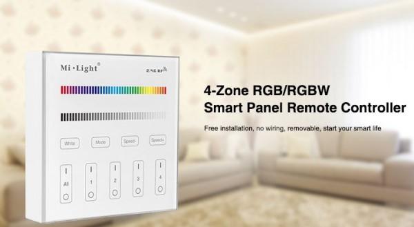 Synergy 21 LED Fernbedienung Smart Panel RGB/RGBW 4 Zonen *Milight/Miboxer*