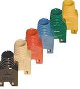 TP-Stecker STP Hirose, CAT5(TM11),zbh.Tülle, Rot, 100Pack