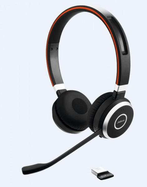 Jabra Evolve 65 Headset Duo USB / Bluetooth MS mit Ladegerät