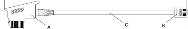 Kabel TK TST auf RJ-11 3m (Österreich)