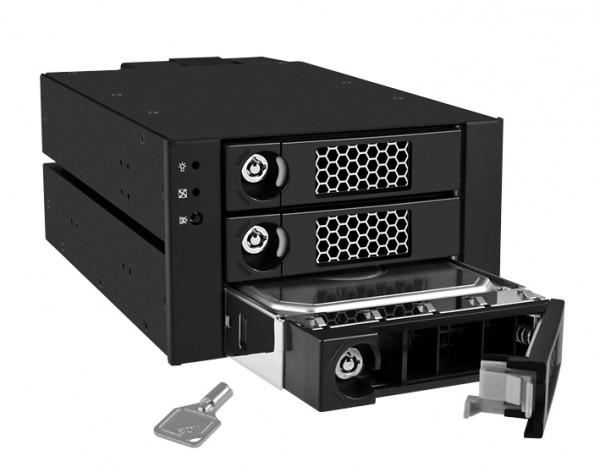"ICY Box Wechselrah.SATAII+SAS 3x3, 5"" -> SATAII+SAS, IB-553SK"